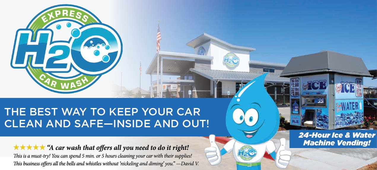 Clean car inside and out - H2O Express Car Wash